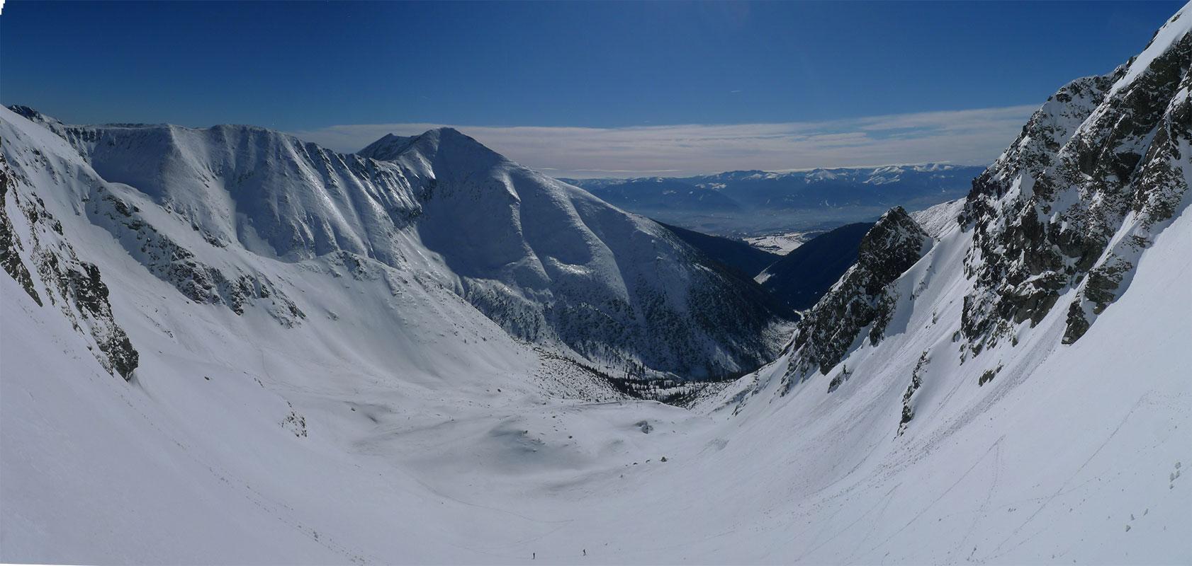 Hrubá kopa via Lúčne sedlo Západné Tatry Slowakei panorama 05