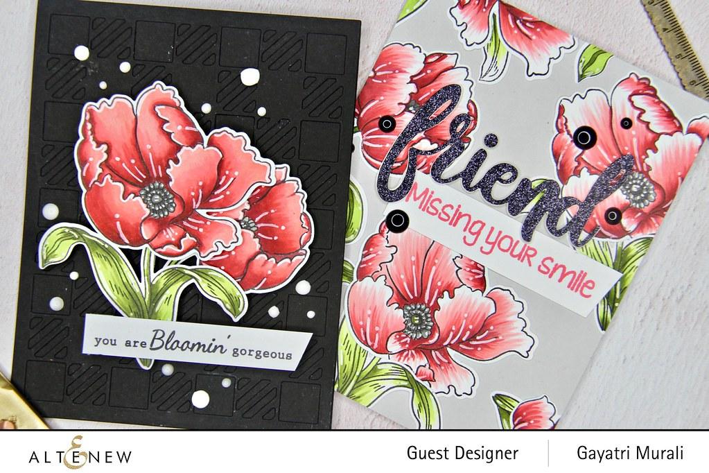 Altenew Color therapy blog hop card set closeup1