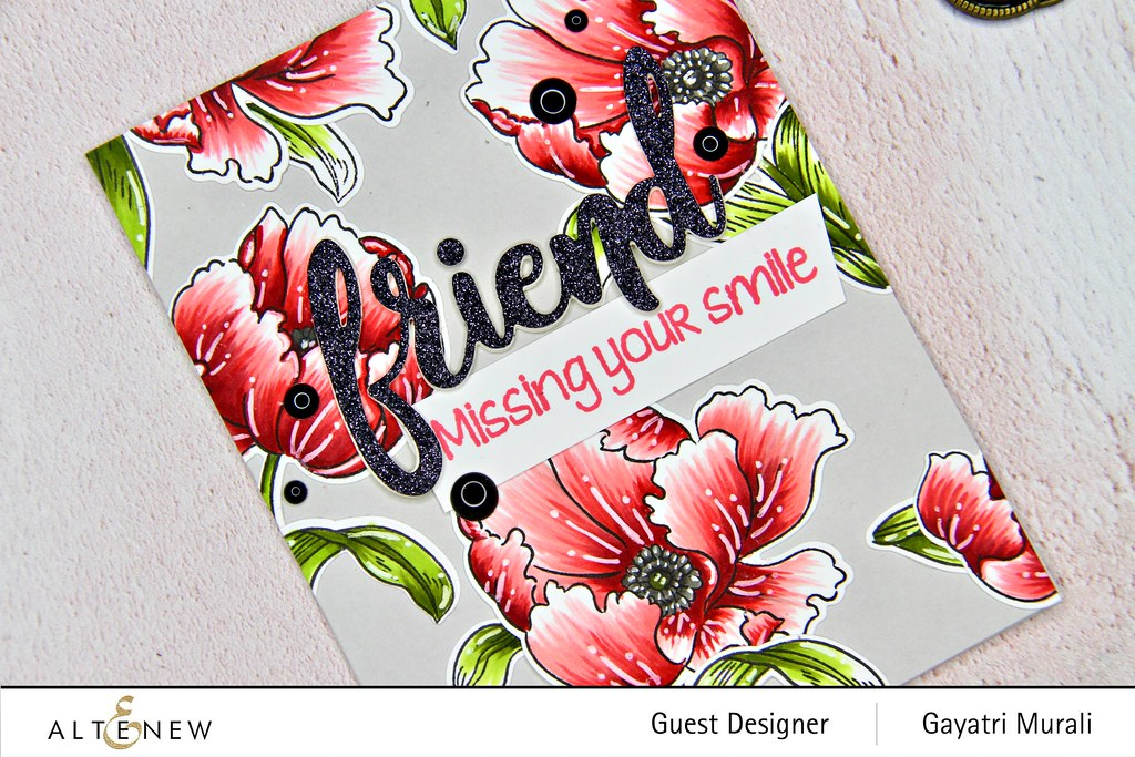 Altenew Color therapy blog hop card #2 closeup2