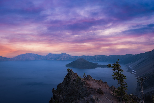 Merriam Point Sunset, Crater Lake