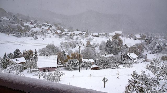 1ère neige au sol...