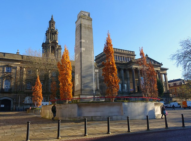 Autumn view of the centre of Preston