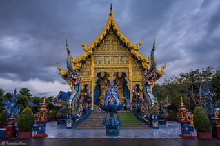 Wat Rong Suea Ten (Blue Temple) - Chiang Rai