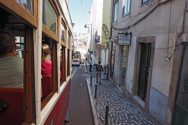 On the tram, Lisbon