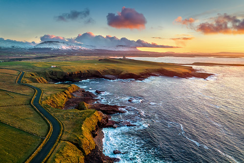classiebawn castle mullaghmore valley benbulben dji phantom 4 four pro p4p drone uav aerial ben bulben county sligo mountain snowcapped snow capped winter frozen 2019 hill cliff landscape scape donegal ireland irish nature natural tourist site visit gareth wray photography sky sun photographer mountains walk stack table top dartry benbulbin grange day vacation country house manor lord mountbatten cliffoney holiday europe bulbin wild atlantic way route sunset scenic cliffony