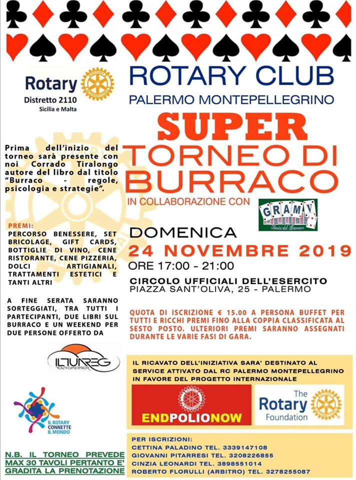 Palermo Rotary Burraco Tiralongo