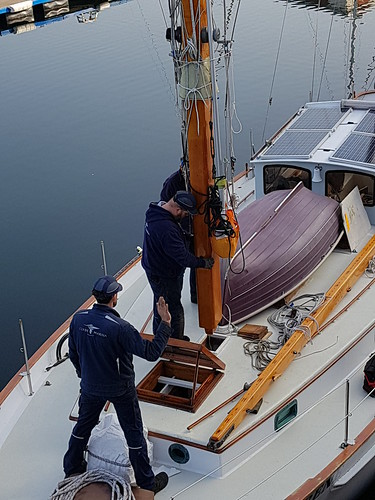 Stepping the main Clyde Marina | by Sailing P & G