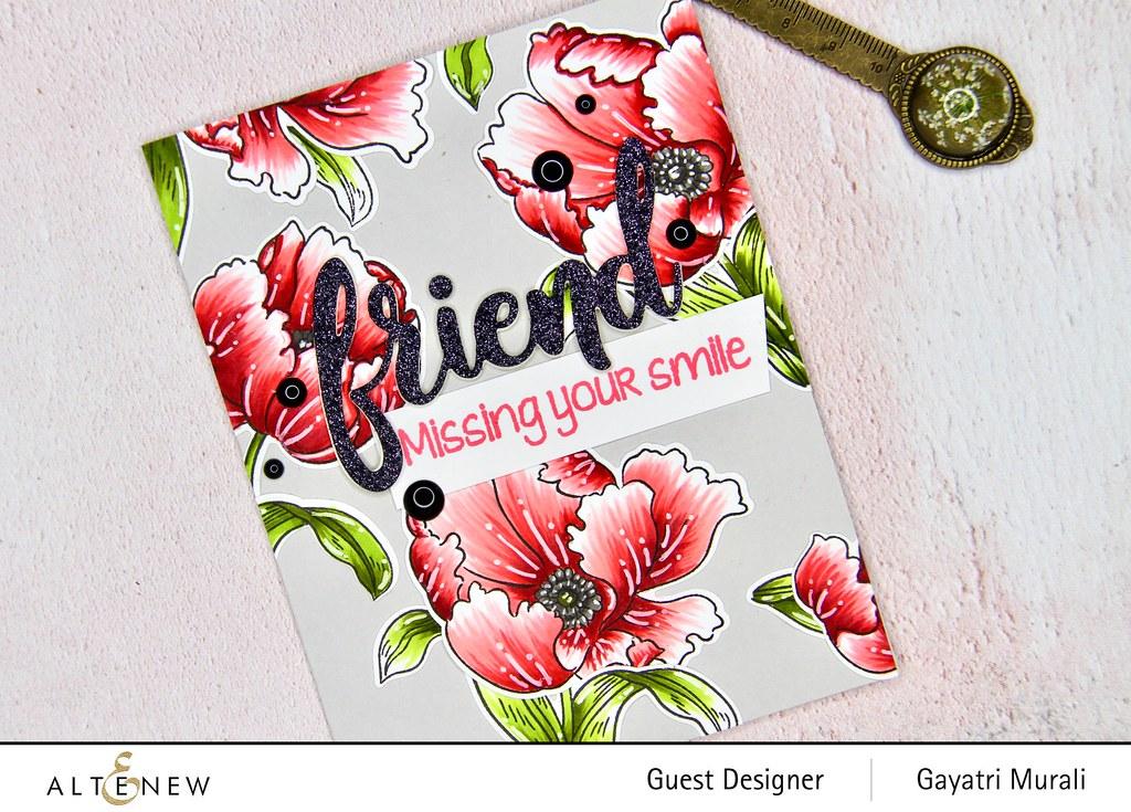 Altenew Color therapy blog hop card #2 closeup