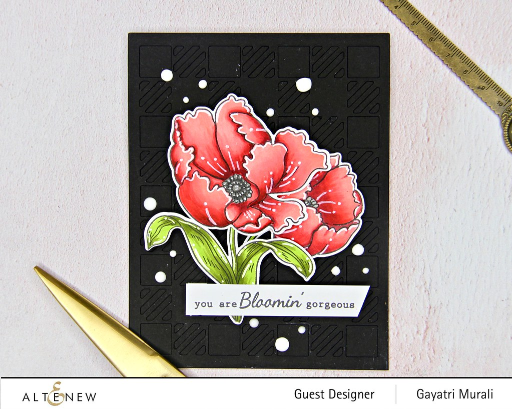 Altenew Color therapy blog hop card #1