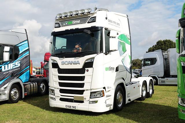 Ontime Logistics Scania S580 EY69YKG Paddock Wood Truckfest 2019