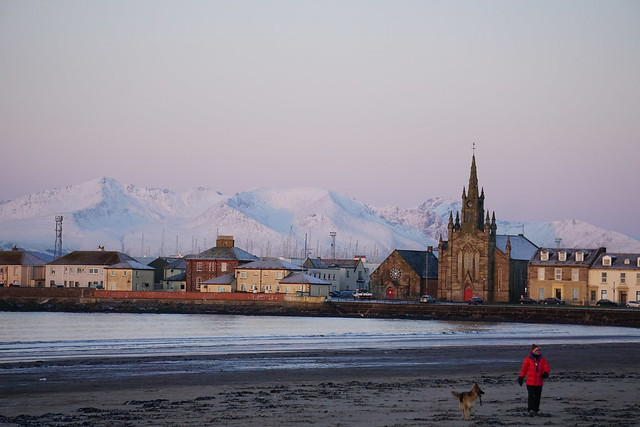 Snowy Arran over Ardrossan