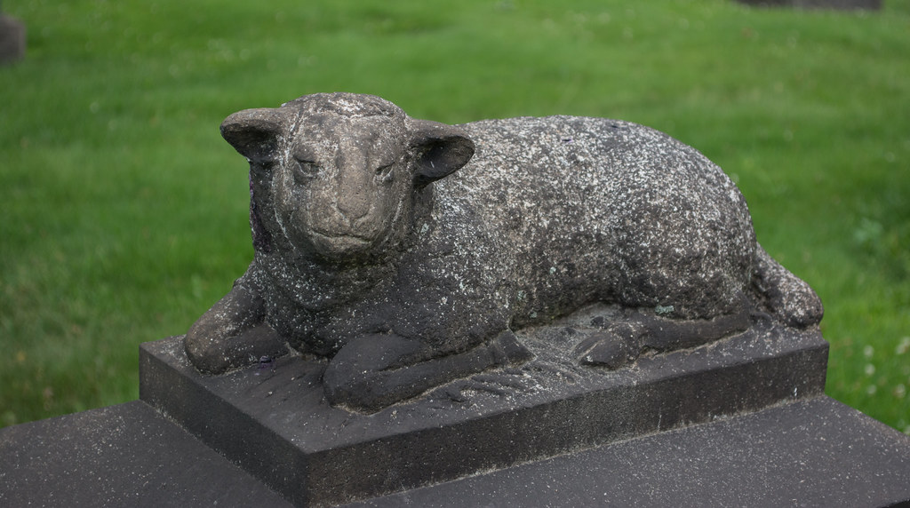 the angry lamb - Woodland Cemetery