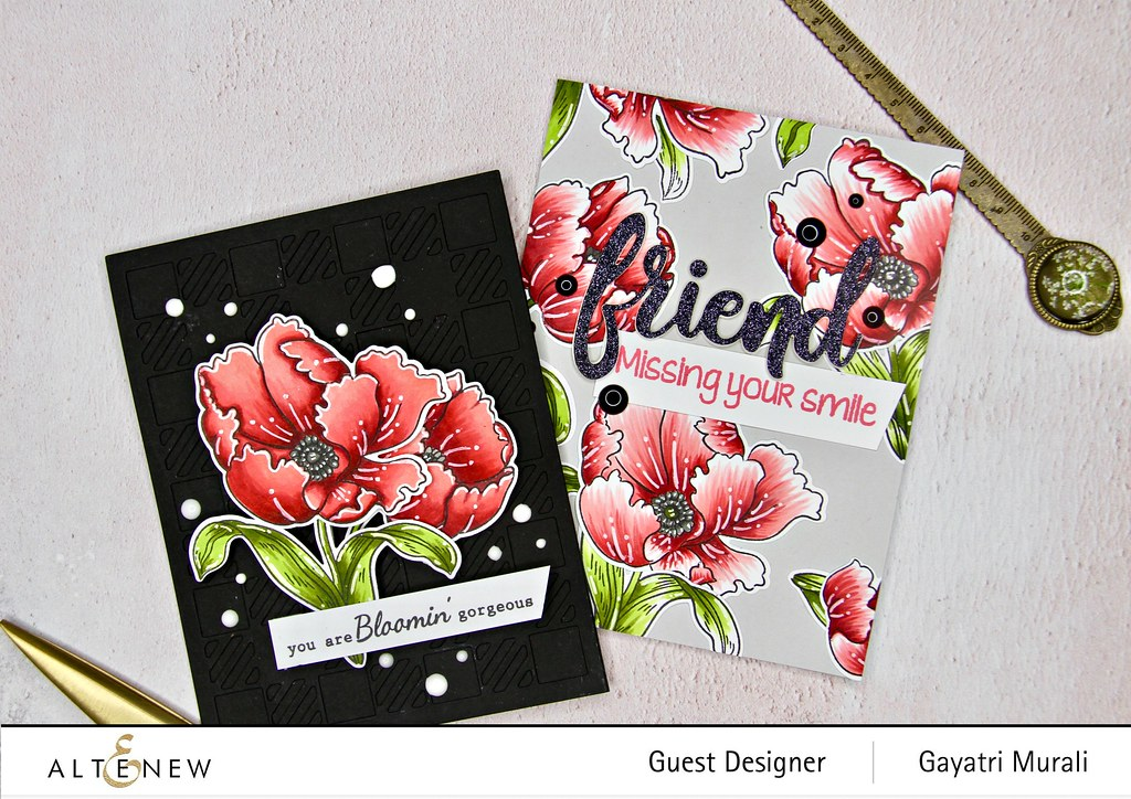 Altenew Color therapy blog hop card set #1