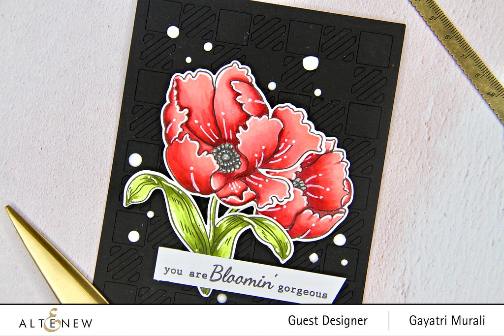 Altenew Color therapy blog hop card #1 closeup1