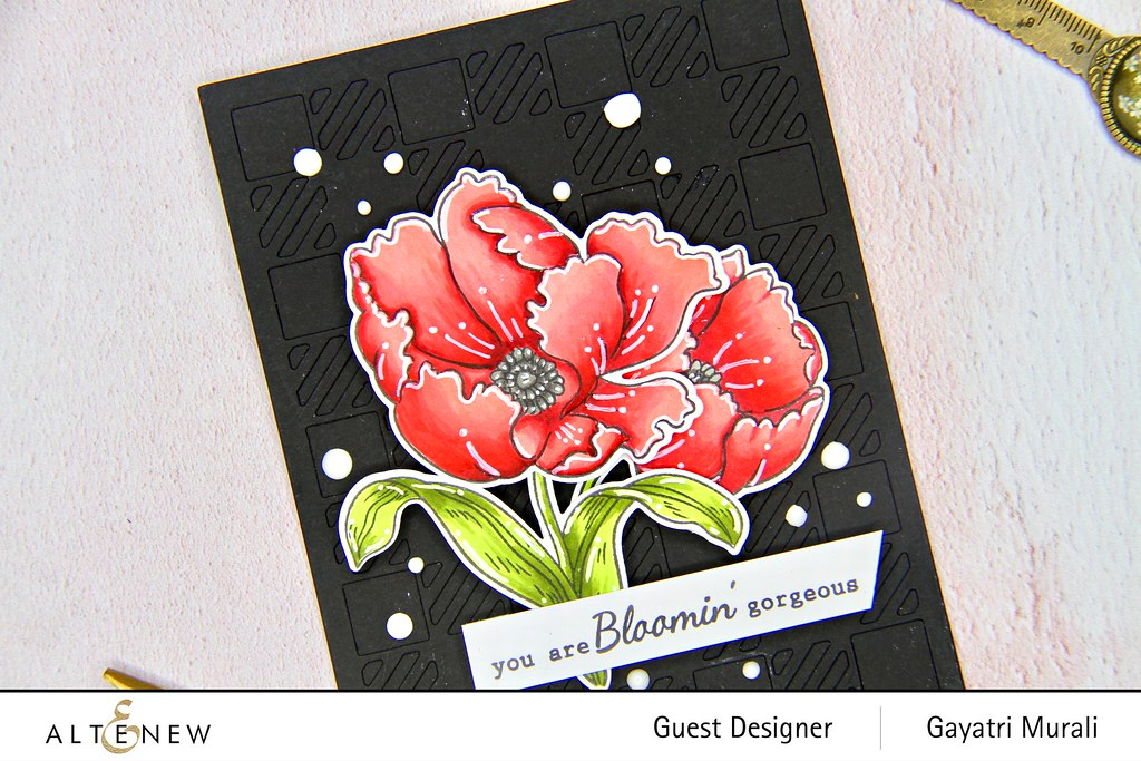 Altenew Color therapy blog hop card #1 closeup