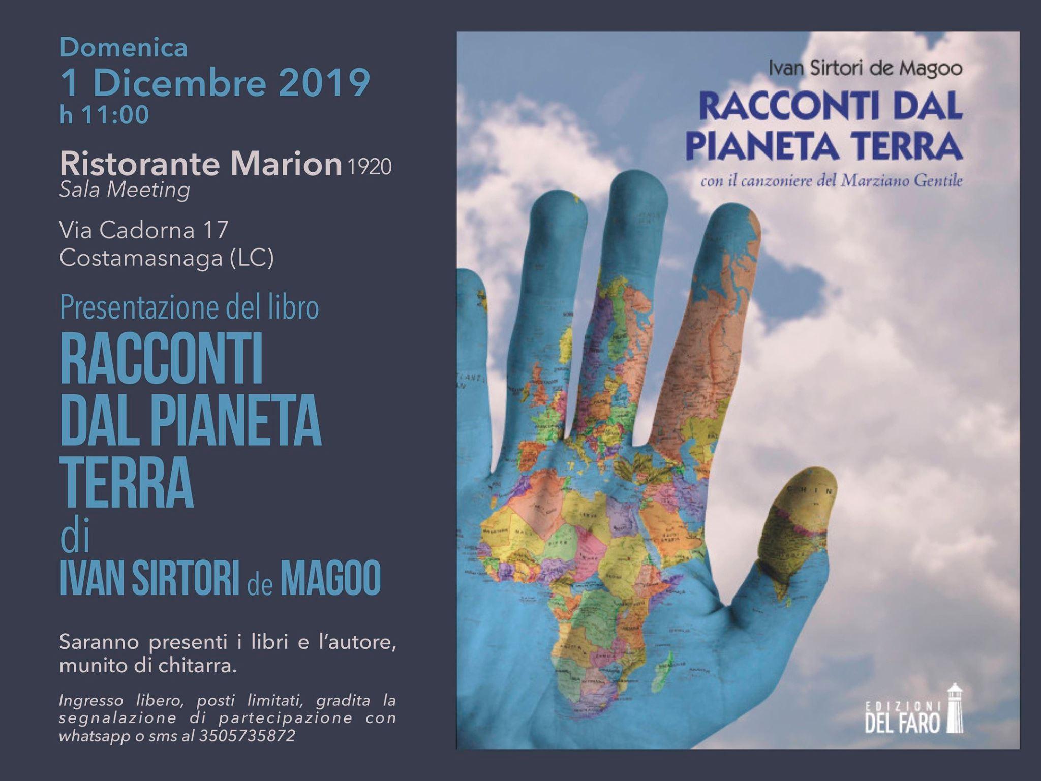 Presentazione libro di Ivan Sirtori de Magoo al Ristorante Marion di Costamasnaga