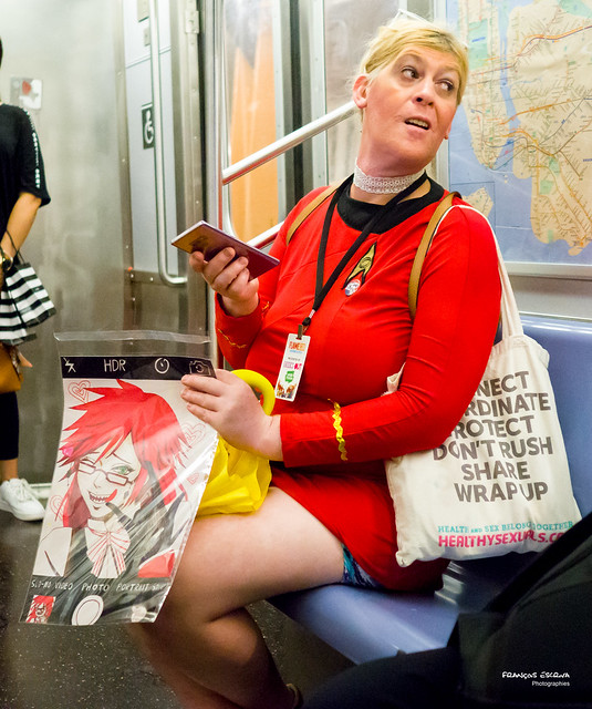 The New Yorkers - Cosplayer in a train