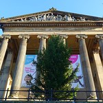 Christmas tree up at the Harris Museum in Preston