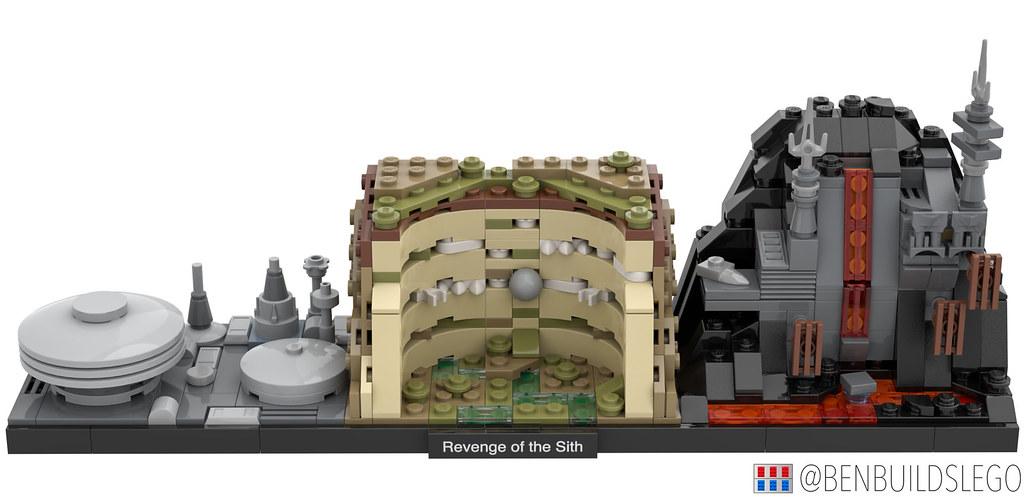 Lego Star Wars Revenge Of The Sith Skyline Moc 2 Flickr