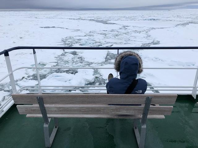 Diego Nombela (Una milla más) en Svalbard