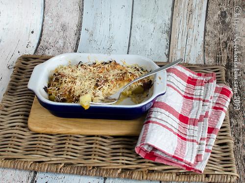 Spitzkohlauflauf mit Cabanossi und Kartoffeln (2)