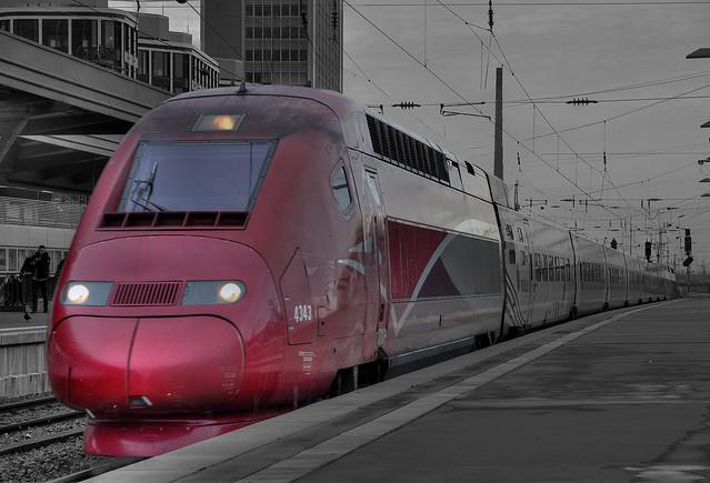 Essen HBF Einfahrt Thalys