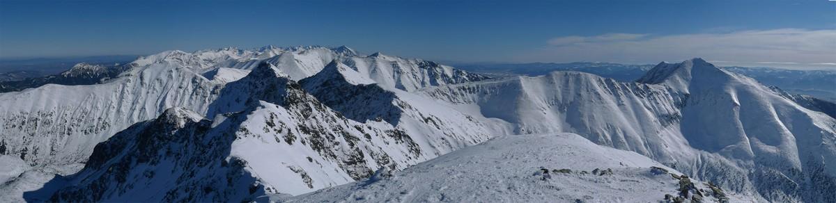 Hrubá kopa via Lúčne sedlo Západné Tatry Slowakei panorama 26
