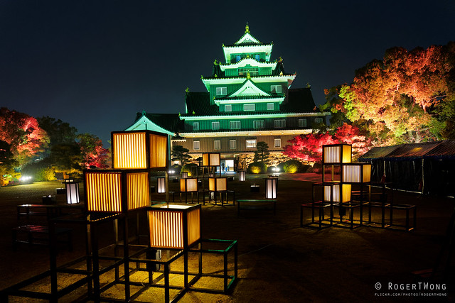 20191118-68-Okayama Castle at night