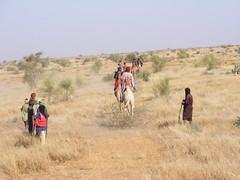 Mali 23-022, Making the firebreak guideline, Credit - WILD Foundation (IDB)