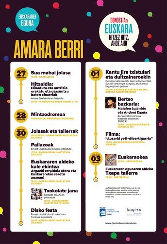 Amara Berriko egitaraua