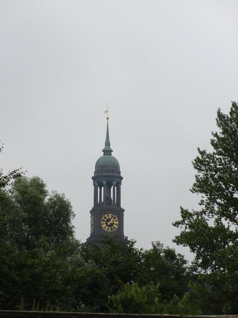 1751/86 Hamburg Uhr an Michel genannter barocker evangelischer Hauptkirche St. Michaelis 133mH von Johann Leonhard Prey/Ernst Georg Sonnin Englische Planke 1 in 20459 Neustadt
