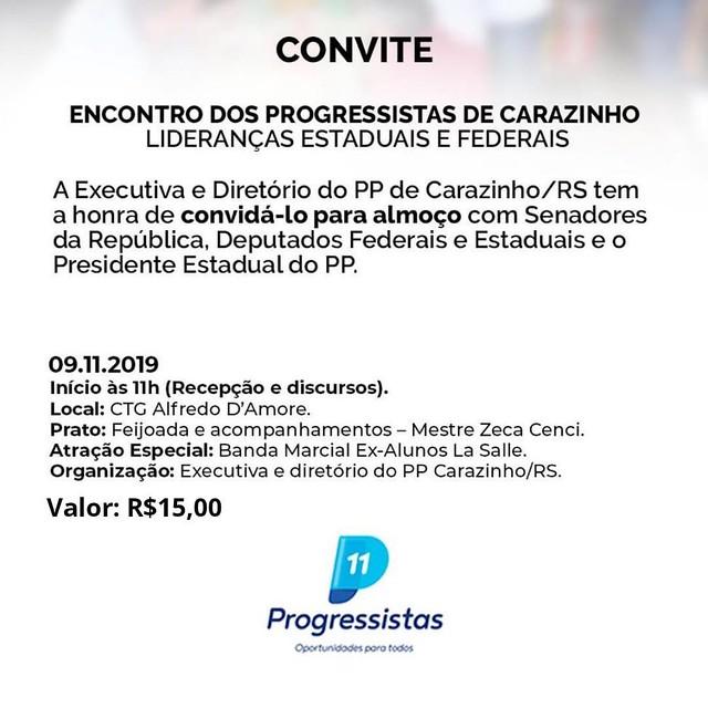 09/11/2019 Reunião Regional Progressistas em Carazinho