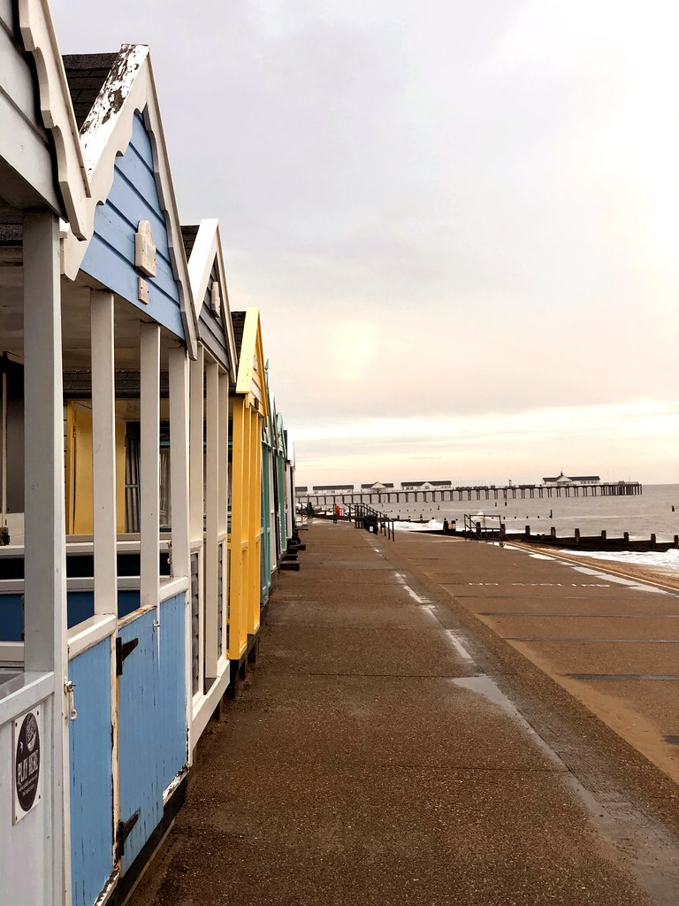 Beach Huts In Autumn - Southwold