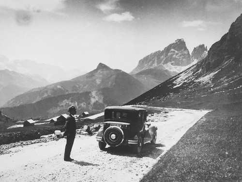Unknown photographer. On the ascent to the Simplon Pass.