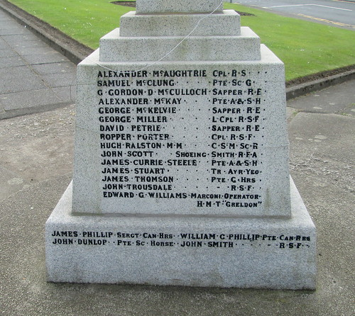 Whitletts War Memorial Great War Names