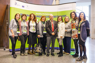 "13/11/2019 - 11:59 - On 12 and 13 November 2019 in Bilbao, the event brought together leading European experts and decision makers to discuss the results of the 2-year campaign ""Healthy Workplaces Manage Dangerous Substances"".  photo: © EU-OSHA / Fernando Aramburu Garrido"
