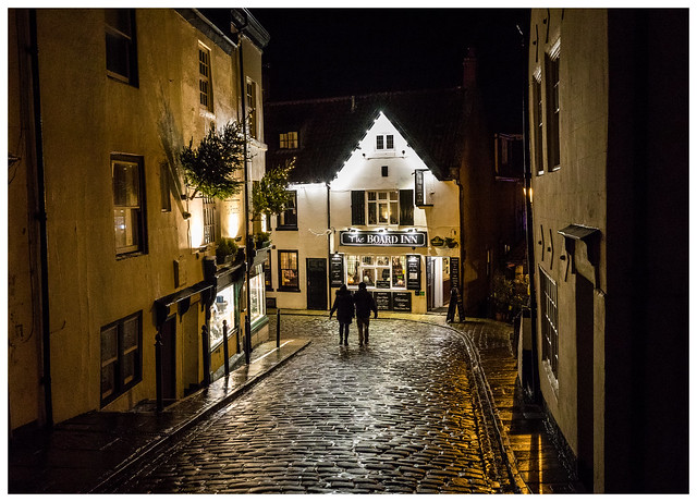 Chilly Night In Old Whitby Town