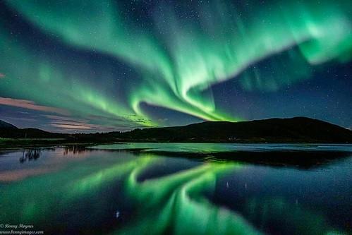 Aurora Guide Benny's View in the Evening, in Vesterålen, Arctic Norway