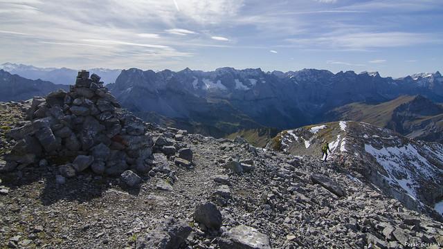 the long mountain ridge