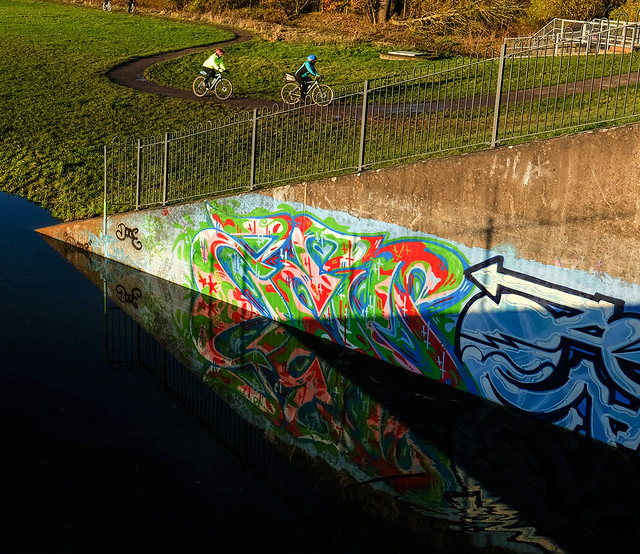 Sluice gate graffiti