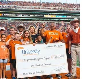 UFCU Gives $100,000 to Neighborhood Longhorns