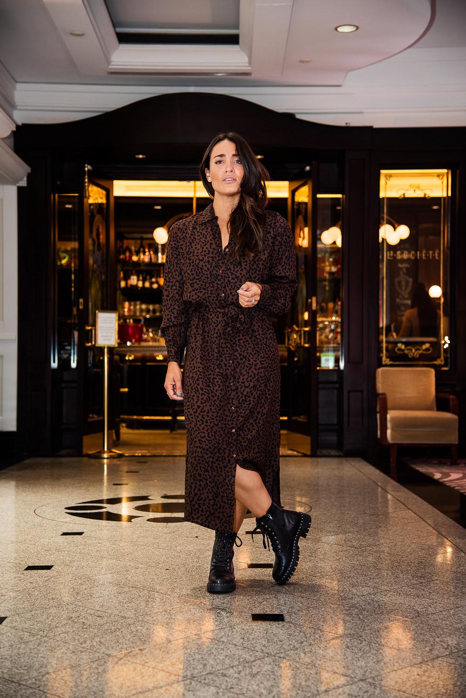 camille dg robe léopard bottes militaires