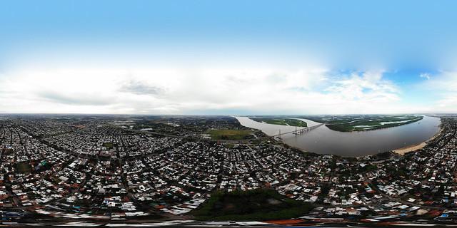 Panoramica de Rosario desde Plaza Ovidio Lagos - La Florida - Alberdi - Rosario - Santa Fe - Argentina