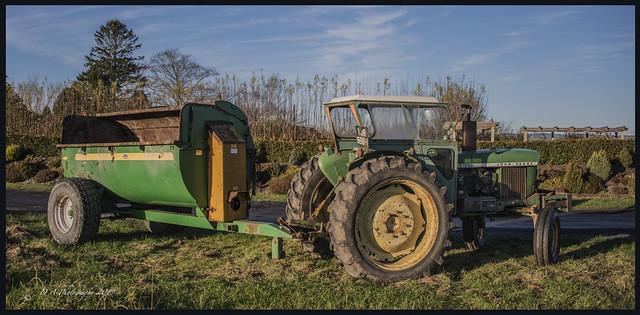John Deere Tractor and Muck Spreader