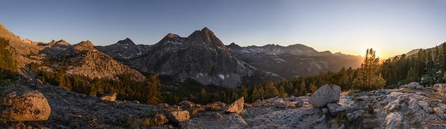 Sunset above Evolution Valley