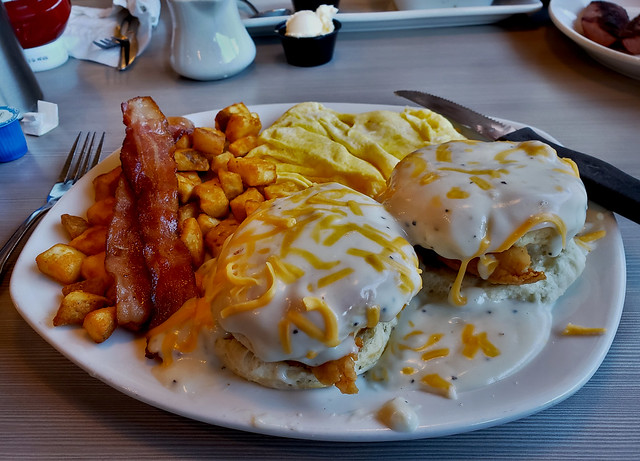 Perkins, Southern Fried Chicken Biscuit Breakfast