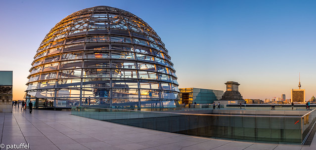 The Reichstag dome during Golden Hour
