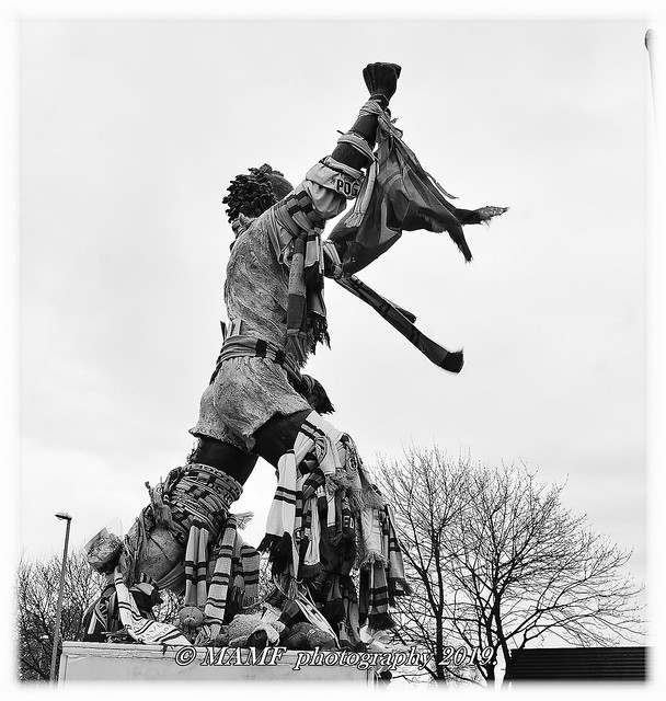 The statue of Billy Bremner, Leeds united's greatest ever player.