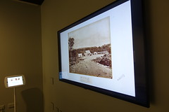 Heritage images on screen,