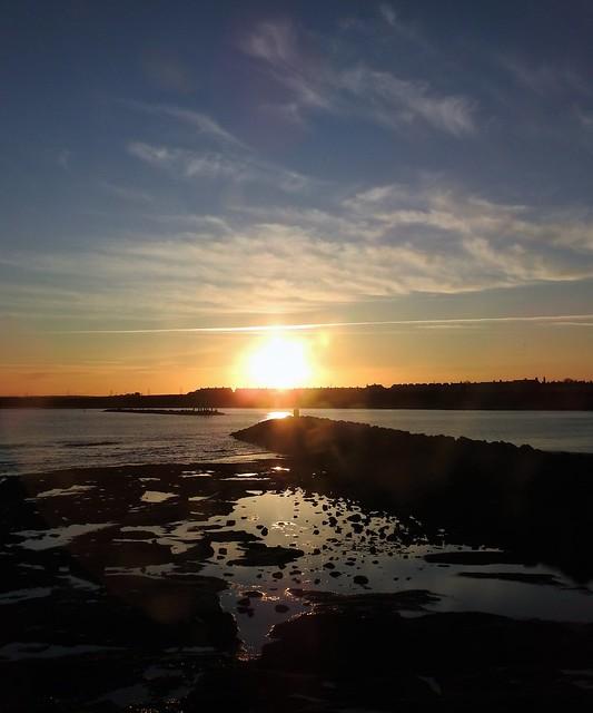 Newbiggin Breakwater Sunset